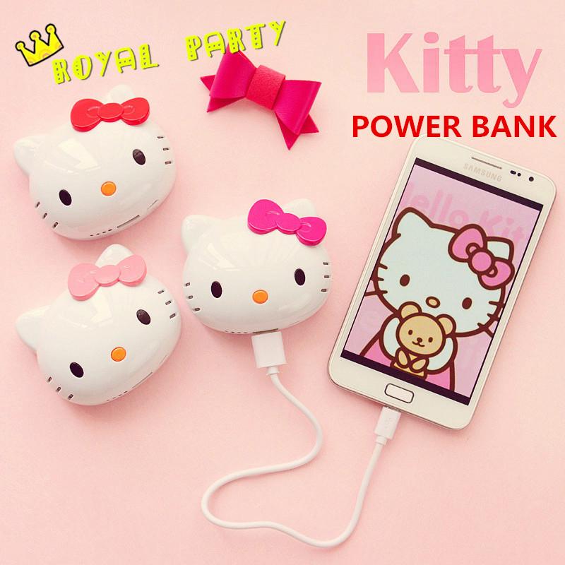 Sạc Dự Phòng Hello Kitty Đáng Yêu 8800 Mah Portable Power Bank