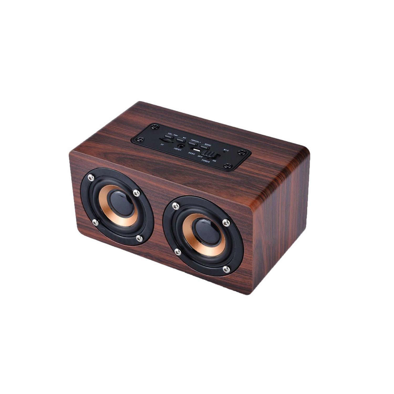 Loa gỗ Super Bass vi tính âm thanh nổi HIFI Stereo speaker