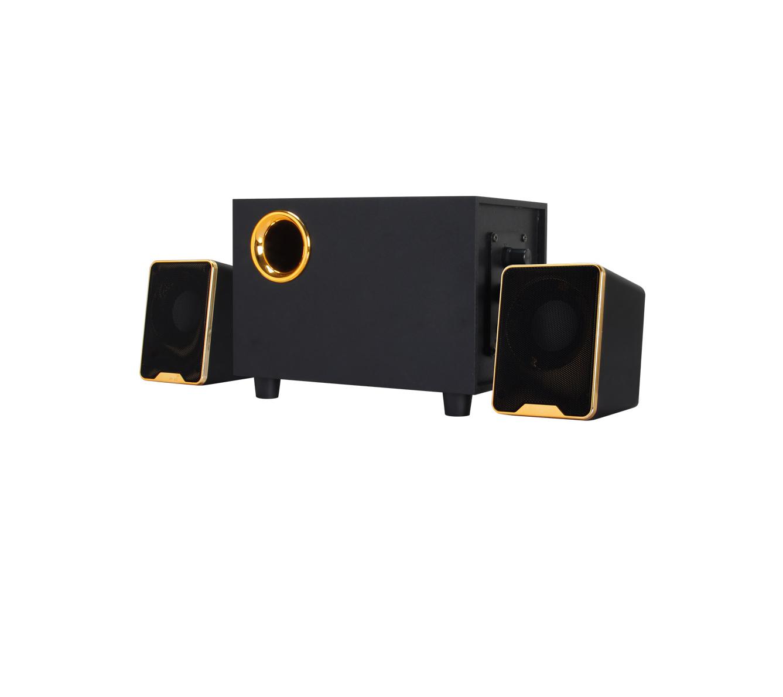 Loa âm li thùng gỗ, viền vàng đồng cao cấp FT29