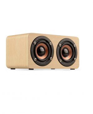 Loa gỗ Super Bass vi tính âm thanh nổi lõi kép HIFI Stereo speaker