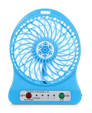 Quạt cầm tay pin sạc 3 cấp độ mini hoa tuyết Portable fans
