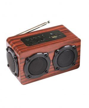 Loa gỗ Bluetooth Super Bass vi tính âm thanh nổilõi képHIFI Stereo speakerPKCB-02